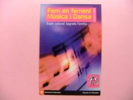 POSTAL PUBLICITARIA - FEM EN FEMENÍ MUSICA I DANSA (espai Cultural Sagrada Familia) - Publicidad