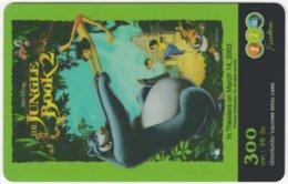 THAILAND E-580 Prepaid 1-2-Call - Cinema, Walt Disney, The Jungle Book 2 - Used - Thaïland