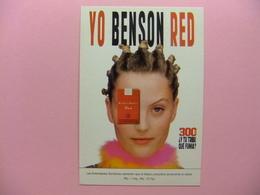 POSTAL PUBLICITARIA - YO BENSON RED (el Tabaco Perjudica) YO TECNO - Publicidad