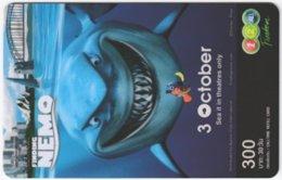 THAILAND E-699 Prepaid 1-2-Call - Cinema, Walt Disney, Finding Nemo - Used - Thailand