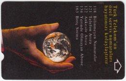 TURKEY A-668 Magnetic Telekom - Universum, Earth - Used - Turchia