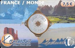 CARTE-PREPAYEE-KOSMOS-7.5€ -QUATRES POINTS CARDINAUX-07/2002-50000Ex-T BE- - France