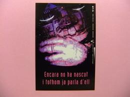 POSTAL PUBLICITARIA - ENCARA NO HA NASCUT I TOTHOM JA PARLA D'ELL (LA GESTACIÓ DEL FUTUR) - Publicidad