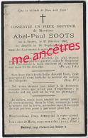 En 1908 Borre (59) Abel SOOTS Né En 1867 - Décès