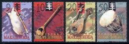 MACEDONIA 2003 Traditional Musical Instruments MNH / **.  Michel 273-76 - Macedonia