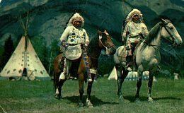 '    THE STAMPEDE CITY  BY AIR MAIL PAR AVION CALGARY ALBERTA CANADA   INDIEN   INDIANS  Indios - Native Americans