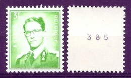 BELGIE  Boudewijn Bril * R 32a * ROLZEGEL * Postfris Xx - Coil Stamps