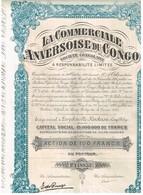 Action Ancienne - Congo - La Commerciale Anversoise Du Congo - Titre De 1927 - N°118853 - Afrika