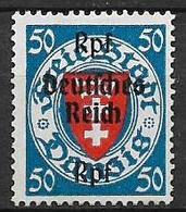 GERMANIA REICH TERZO REICH 1939 FRANCOBOLLI DI DANZICA SOPRASTAMPATI UNIF. 653 M  MLH VF - Nuevos