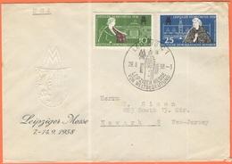 GERMANIA - GERMANY - Deutschland - ALLEMAGNE - DDR - 1958 - Leipziger Herbstmesse - FDC - Viaggiata Da Leipzig Per Newar - [6] Repubblica Democratica