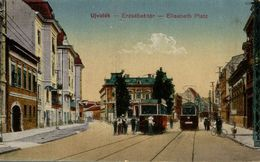 SERBIE Ujvidek Erzsebet Ter Elisabeth Platz   TRAMWAY - Serbia