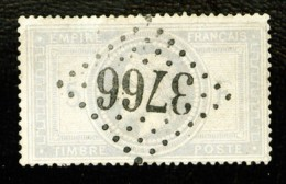 33 -  5F Empire Lauré - Oblitéré GC 3766 - Sans Défaut - Luxe Et Rare - 1863-1870 Napoleon III With Laurels