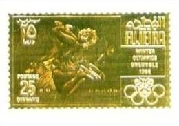 FUJEIRA (Arabie Du Sud-Est) - 25 Dh. Jeux Olympiques D' Hiver GRENOBLE 1968 Sur Feuille D' OR - Dentelé - Neuf N** - Hiver 1968: Grenoble