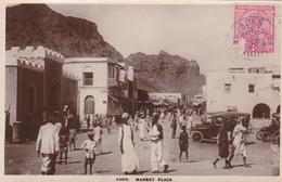 1920 CPA INDIA. ADEN, MARKET PLACE. I.BENGHIAT. OBLITERE ADEN - BLEUP - India
