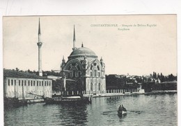 1910'S CPA TURKEY- CONSTANTINOPLE. MOSQUEE DE DOLMA-BAGTCHE BOSPHORE. N.AZIKRI - BLEUP - Turquie