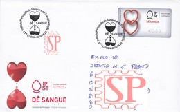 Portugal 2019 FDC Dê Sangue Instituto Blood Donner Du Sang Bloed Geven  Sangre Health Santé Salud Saúde Ema - Primeros Auxilios