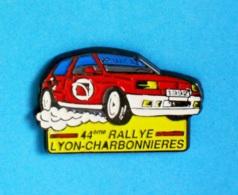 1 PIN'S //  ** RENAULT / CLIO PRIMAGAZ /1992 / 44ème RALLYE LYON-CHARBONNIERES ** . (MMM) - Rallye