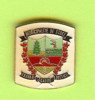 Pin's Ville Du Québec Stoke - 10FF28 - Villes