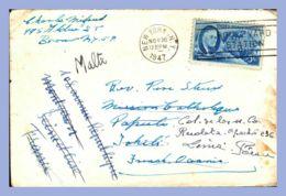 Lettre Du 26/11/1947 Au 01/03/1948 - Etats-Unis (New York) - 1947. Vers Tahiti (Papeete) Réexp.vers France (Montgeron) - Verenigde Staten