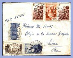 Lettre Par Avion - France (Cholet) - 1948. Vers Perou (Lima) - Lettres & Documents