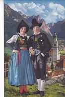 1920'S CPA FOLK COSTUMES SUISSE COUPLE- DOLOMITI. COSTUMI DI PUSTERIA. L.FRANZL - BLEUP - Costumes