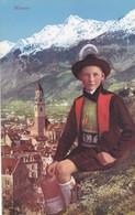 1920'S CPA FOLK COSTUMES SUISSE- MERANO. LOR. FRANZL. - BLEUP - Costumes