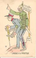 L'AVEUGLE ET LE PARALYTIQUE Illustrateur Guerre 1914-1918 Caricature Anti Allemande - Guerre 1914-18