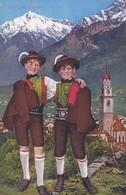1920'S CPA FOLK COSTUMES SUISSE- SALUTI DA MERANO. LOR. FRANZL. - BLEUP - Costumes