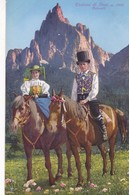 1920'S CPA FOLK COSTUMES SUISSE- COSTUMI DI SIUSI, DOLOMITI. CHEVAL HORSES TRADICIONAL. LOR. FRANZL. - BLEUP - Costumes