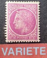 R1591/121 - 1945 - TYPE CERES DE MAZELIN - N°679 NEUF** ➤➤➤ PAPIER CARTON - Variétés: 1945-49 Neufs