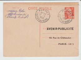 Côte Du Nord : PLEMET CàD Type A6 / Entier Gandon REPIQUE De 1956 TB - 1921-1960: Modern Period