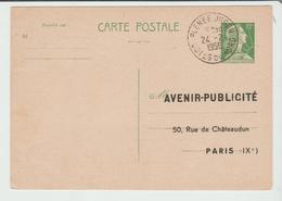 Côte Du Nord : PLENEE JUGEN CàD Type A6 / Entier Muller REPIQUE De 1956 TB - 1921-1960: Modern Period