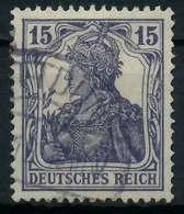DEUTSCHES REICH 1900 18 GERMANIA Nr 101a Gestempelt Gepr X89906A - Deutschland