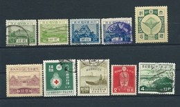 Japan, 1926-1940, Lot Of 8 Stamps Used + 2 MNH; MiNr 177 - 289, Yt 191 - 296 (see Description), 25% Of Catalog Price - 1926-89 Empereur Hirohito (Ere Showa)