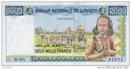 DJIBOUTI P. 40  2000 F 1997 UNC - Dschibuti