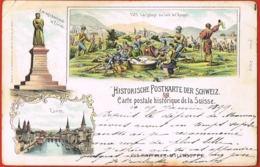 Historische Postkarten Der Schweiz- Carte Postale Historique De La Suisse-Litho Multivues 1899 Scans Recto Verso- - Suisse
