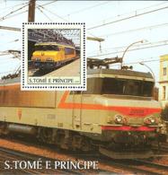 Sao Tome 2003 French Trains - Sao Tome And Principe