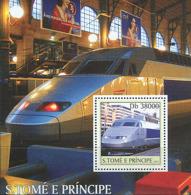 Sao Tome 2003  T.G.V. Trains - Sao Tome And Principe