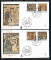 Vatican 1992 Xmas, Mosaics 2x FDC - FDC