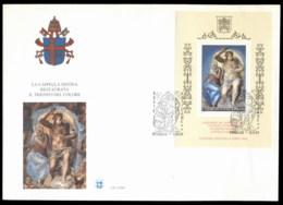 Vatican 1994 Restored Sistine Chapel MS XLFDC - FDC