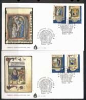 Vatican 1995 Scenes Fro Manuscripts, Life Of Jesus 2x FDC - FDC