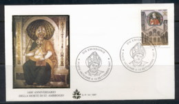 Vatican 1997 St Ambrose FDC - FDC