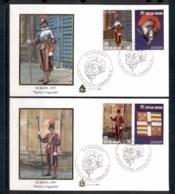 Vatican 1997 Swiss Guard 2x FDC - FDC