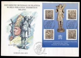 Vatican 1998 Christian Sculptures MS XLFDC - FDC