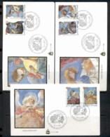 Vatican 1998 Frescoes Of Angels 3x FDC - FDC