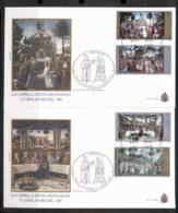 Vatican 2002 Sistine Chapel Restoration 2x FDC - FDC
