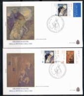 Vatican 2003 19th Century Artists 2x FDC - FDC