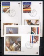 Vatican 2004 Travels Of Pope John Paul II 4x FDC - FDC