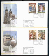 Vatican 2007 Travels Of Pope Benedict XVI 2x FDC - FDC