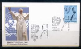Vatican 2008 UN Pope Benedict XVI FDC - FDC
